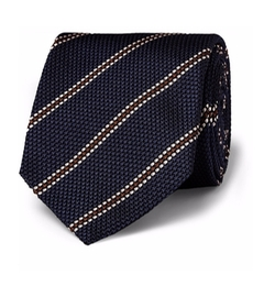 Striped Woven-Silk Tie by Drake's in Kingsman: The Golden Circle