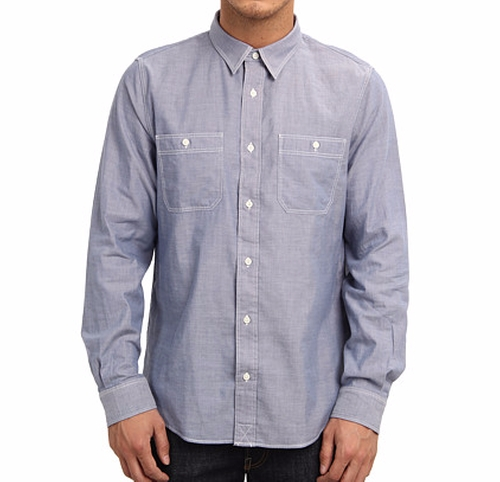 Cormac Chambray Work Shirt by Jack Spade in The Ranch -  Looks