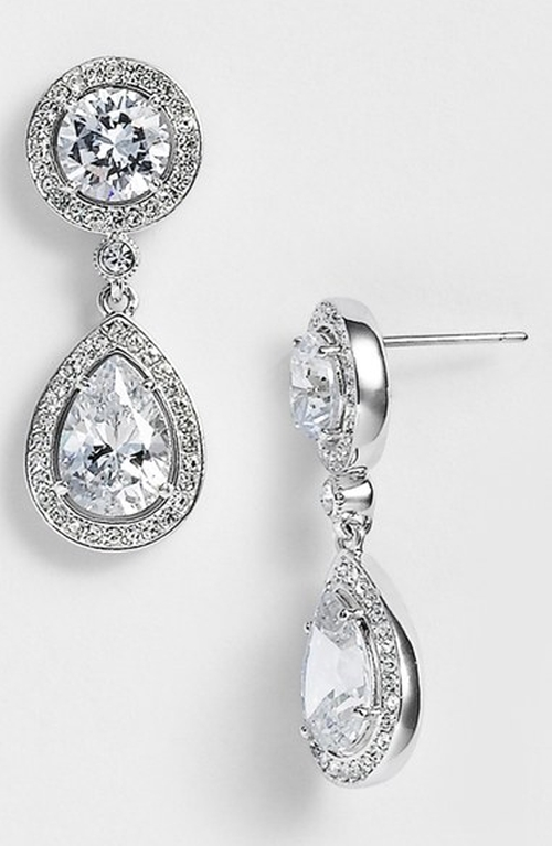 Crystal & Cubic Zirconia Drop Earrings by Nadri in Pretty Little Liars - Season 6 Episode 1