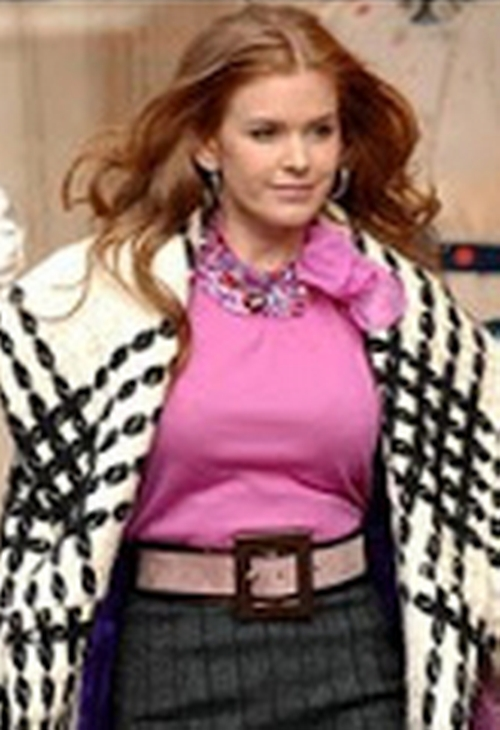 Pink Embellished Tie Neck Blouse by Christian Dior in Confessions of a Shopaholic