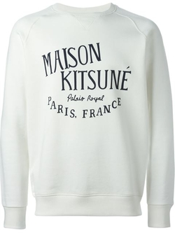 Logo Print Sweatshirt by Maison Kitsuné in Empire