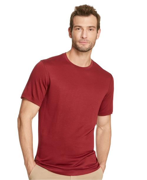 Crew Neck Modal Slub T-Shirt by Van Heusen in No Strings Attached