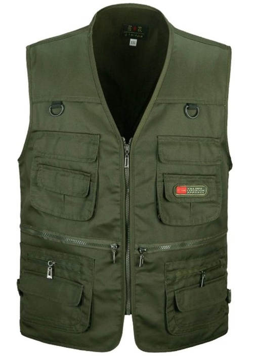 Men's Casual Vest by Zerd Fishing in A Walk in the Woods