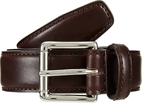 Leather Belt by Barneys New York in Ballers