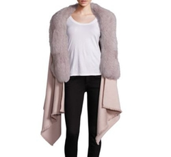 Abby Cashmere, Wool & Fox Fur Cape by Annabelle New York in Fifty Shades Darker