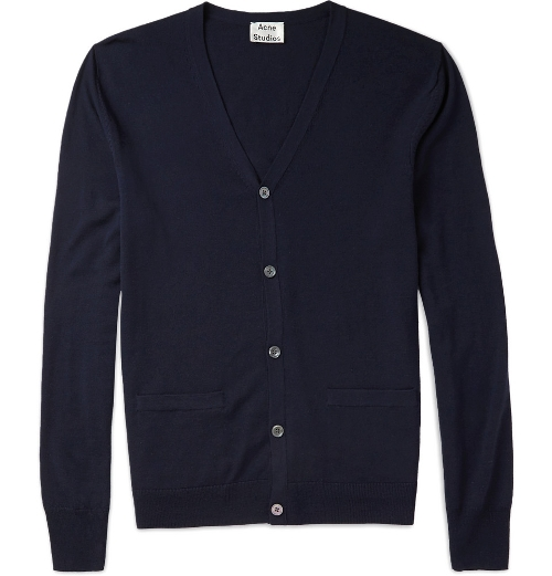 Clissold Fine-Knit Merino Wool Cardigan by Acne Studios in Fantastic Four