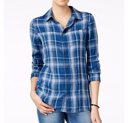 Britt Plaid Button-Down Shirt by Hudson Jeans in Animal Kingdom