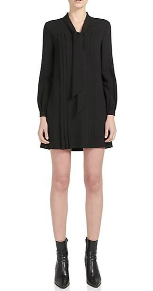 Tie-Neck Pleated Dress by Saint Laurent in Sex and the City