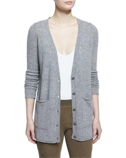 Cashmere V-Neck Donegal Cardigan by ATM in Grace and Frankie