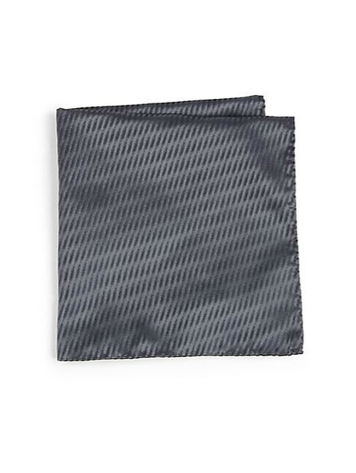 Abstract Check Print Pocket Square by Armani Collezioni in Suits - Season 5 Episode 1