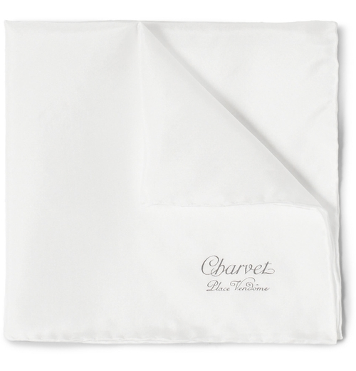Silk Pocket Square by Charvet in Legend