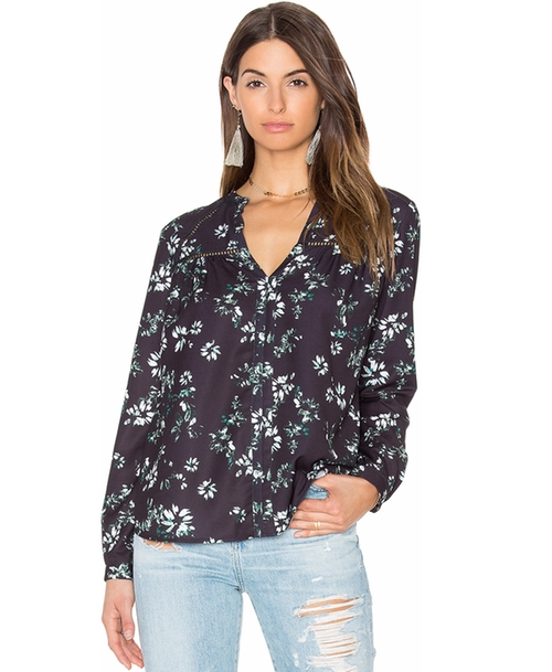 Benson Floral Blouse by Greylin in Collateral Beauty