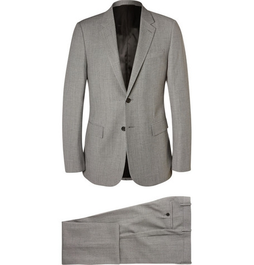 Grey Slim-fit Flecked Wool-Blend Suit by Balenciaga in Mission: Impossible - Rogue Nation