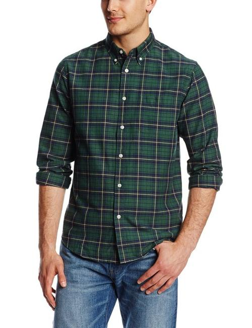 Men's Long Sleeve Oxford Plaid Shirt by Dockers in The Purge: Anarchy