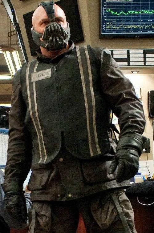 Custom Made Stock Exchange Vest (Bane) by Lindy Hemming (Costume Designer) in The Dark Knight Rises