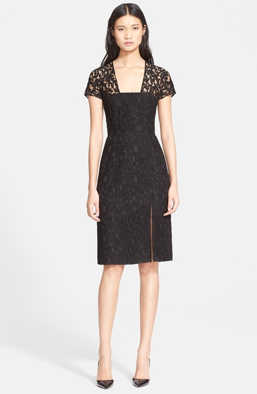 Short Sleeve Lace Sheath Dress by Carven in Nashville - Season 4 Episode 4