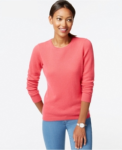 Cashmere Crew-Neck Sweater by Charter Club in Supergirl