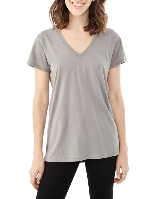 Everyday Cotton Modal V-Neck T-Shirt by Alternative in Quantico - Season 1 Episode 11