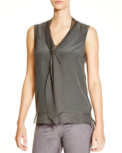 Brandi Tie Neck Silk Blouse by Elie Tahari in The Flash
