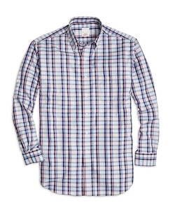 Madison Fit Plaid Sport Shirt by Brooks Brothers in Modern Family