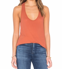 High Hauge Jersey Tank Top by James Perse in Mistresses