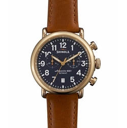 Runwell Chronograph Watch by Shinola in Quantico