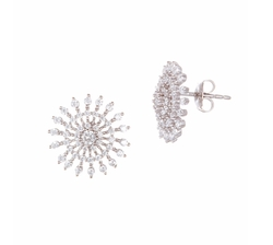Cubic Zirconia Starburst Earrings by Lord & Taylor in The Boss