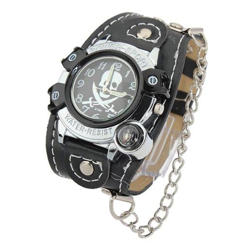 Skull Punk Chain Wrist Watch by Mens watches ukk in Sabotage
