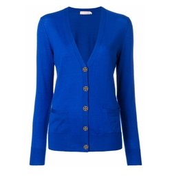 Button Up Cardigan by Tory Burch in Power