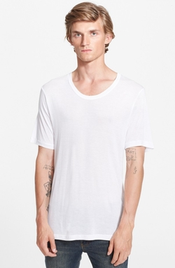 Scoop Neck T-Shirt by Blk Dnm in Black Mass