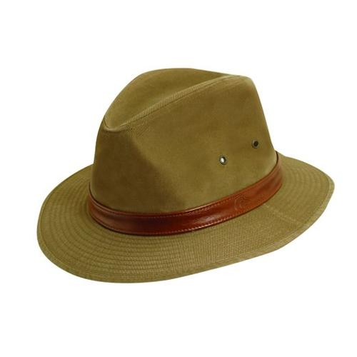 Men's Canvas Leather Trim Safari Hat by Dorfman Pacific in The Expendables 3