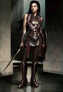 Custom Made 'Sif' Costume by Alexandra Byrne (Costume Designer) in Thor