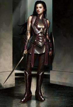 Custom Made 'Sif' Costume by Alexandra Byrne (Costume Designer) in Thor
