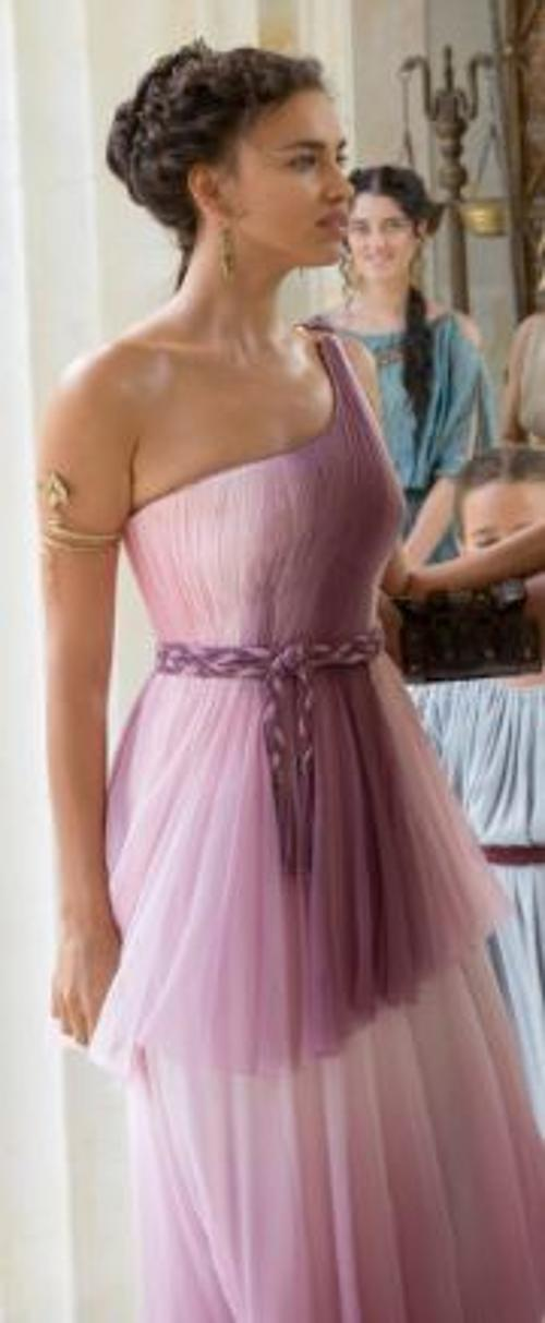 Custom Made Venus Cut Purple Dress (Megara) by Jany Temime (Costume Designer) in Hercules