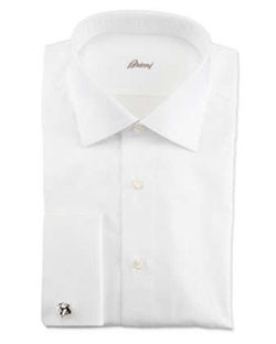 Ribbed French-Cuff Dress Shirt by Brioni in Lucy