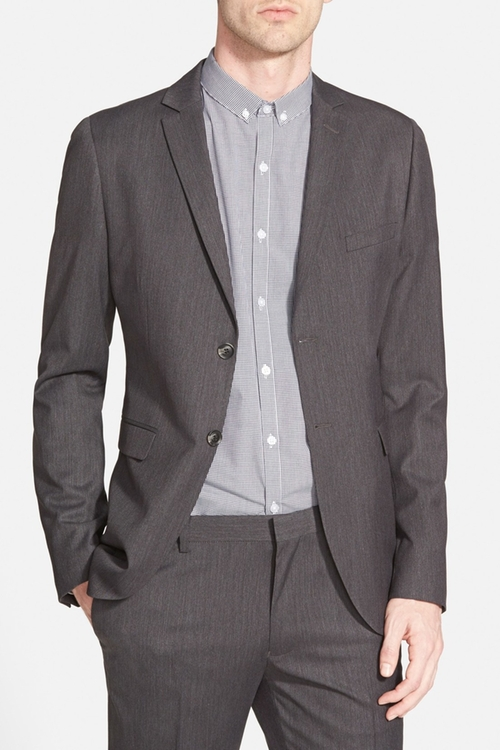 Charcoal Skinny Fit Suit Jacket by Topman in The Big Bang Theory - Season 9 Episode 11