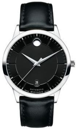 Bold 1881 Automatic Stainless Steel & Leather Strap Watch by Movado in Ballers