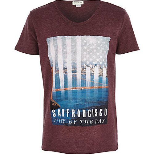 Boys Red San Francisco Print T-Shirt by River Island in If I Stay