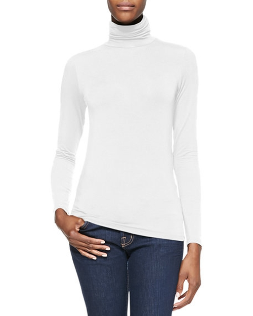 Soft Touch Turtleneck Top by Majestic Paris for Neiman Marcus in Keeping Up With The Kardashians