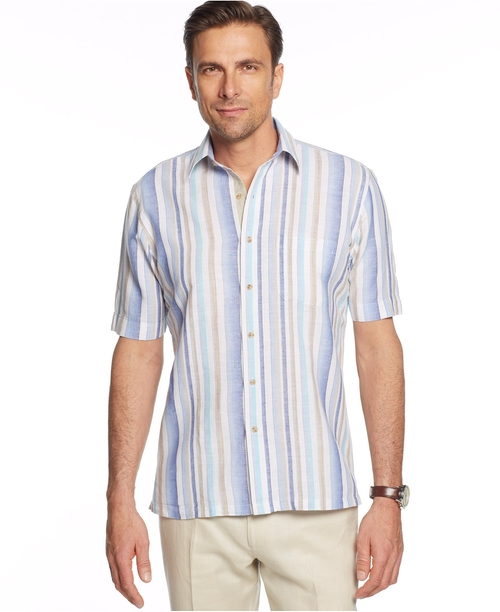 Island Striped Linen-Blend Shirt by Tasso Elba in The Big Lebowski