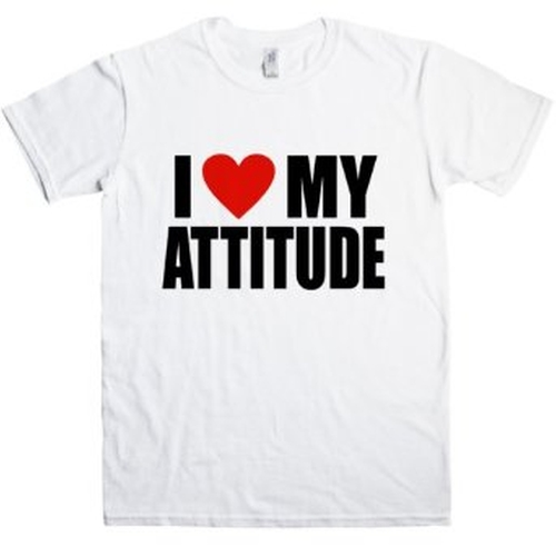 'I Love My Attitude' Print T Shirt by Refugeek Tees in Straight Outta Compton