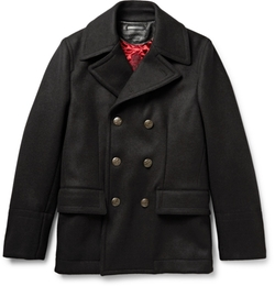 Wool & Cotton-Blend Peacoat by Dolce & Gabbana in American Horror Story