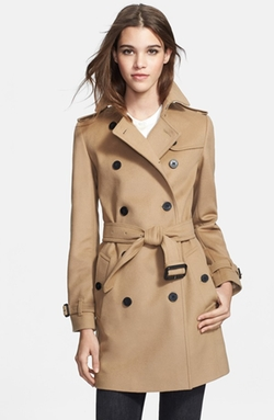 Double Breasted Wool & Cashmere Trench Coat by Burberry London in The Disappearance of Eleanor Rigby