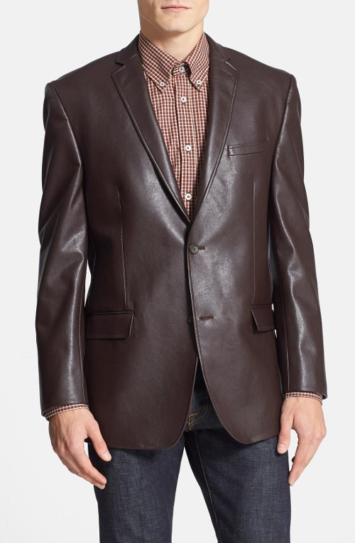 Classic Fit Faux Leather Blazer by Marc New York by Andrew Marc in While We're Young