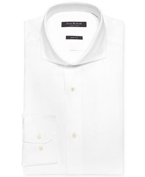 Slim-Fit Pique Dobby Solid Dress Shirt by Isaac Mizrahi in Sherlock Holmes: A Game of Shadows
