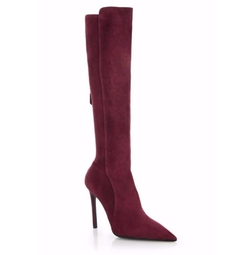Stretch Suede Knee-High Boots by Prada in Empire