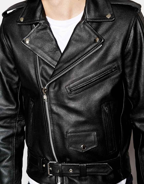 Leather Biker Jacket by Reclaimed Vintage in Grease