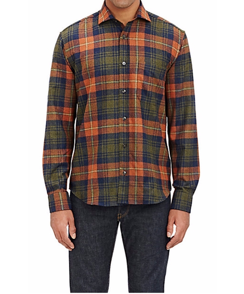 Plaid Felt Overshirt by Inis Meain in New Girl - Season 5 Episode 10