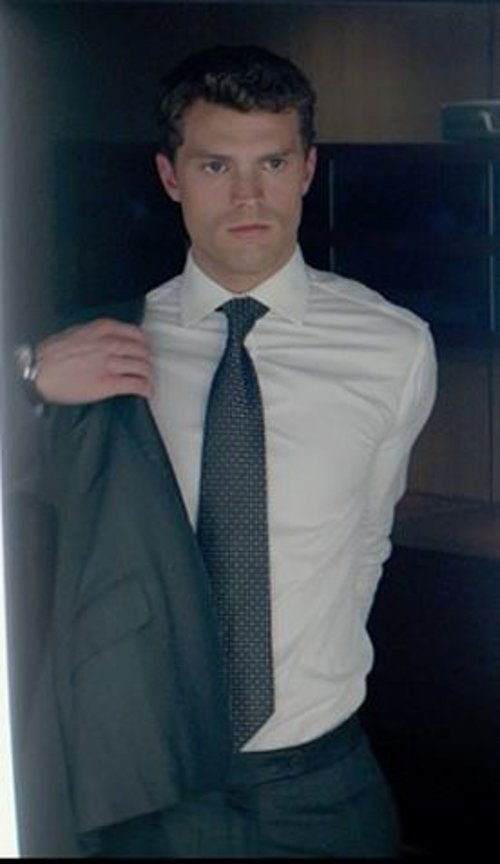 Custom Made Solid Dress Shirt by Anto Beverly Hills in Fifty Shades of Grey