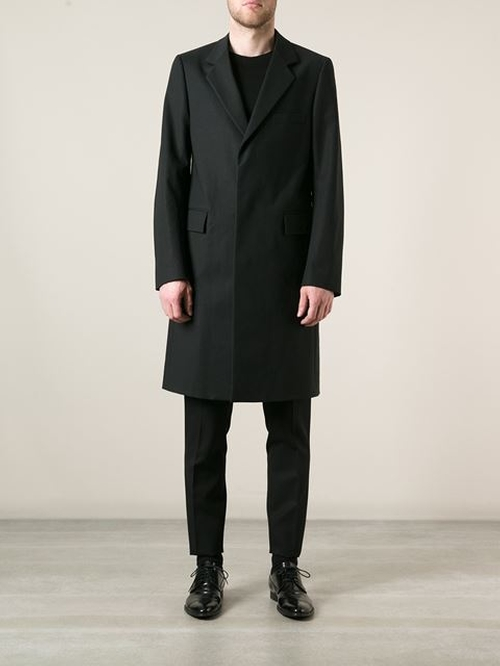 Minimalist Lightweight Overcoat by Raf Simons in Crimson Peak